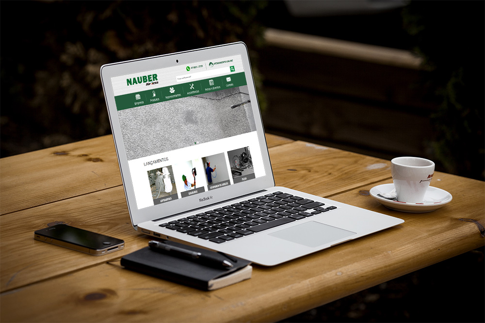 Lançamento do novo site Nauber